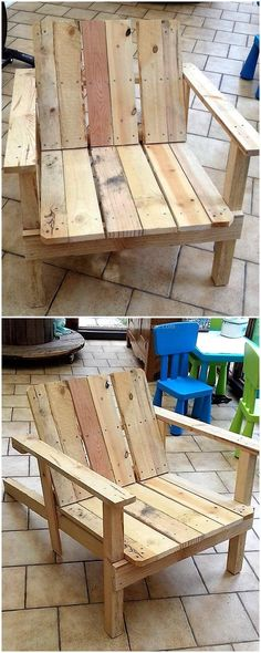wood pallets made chair