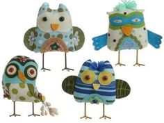 RAZ Imports owl ornaments designed by Linda Solovic