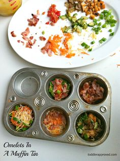 cooking with kids: Omelets in a Muffin Tin