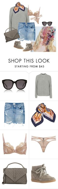 """""""Summer is just around the corner"""" by carodalsgaard ❤ liked on Polyvore featuring CÉLINE, Topshop, Mother, Hermès, L'Agent By Agent Provocateur, Dita Von Teese, Yves Saint Laurent and Isabel Marant"""
