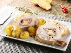 Rollitos de Pollo con Jamón y Queso | Los rollitos de pollo con jamón y queso es una receta muy nutritiva y les gusta mucho a los niños.