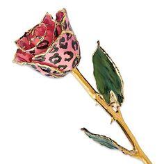 PRE-ORDER-Gold Pink & Black Leopard Rose