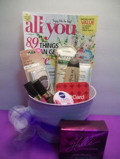 Great idea! Budget-friendly Mother's Day gift basket (with All You magazine) from Pams Party & Practical Tips blog