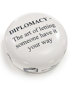 This 'Diplomacy' Resin Paperweight by Concord is perfect! #zulilyfinds