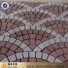 Barato malla de granito pavimentación de piedra en forma de abanico (g699)