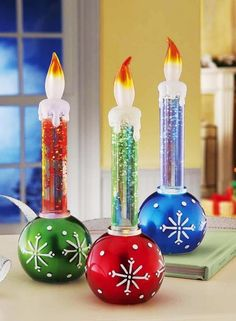 2013 colorful christmas led candles led lighted color changing christmas holiday candle ornaments 2013 - Led Christmas Candles