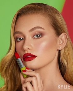 MEAN ONE lipstick 💋 This stunning holiday red is in our new 6 piece lipstick set! Kylie X The Grinch Collection launches 11.19 3pm pst 💚