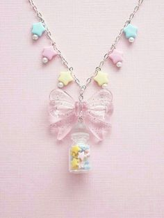 Image uploaded by Find images and videos about cute, pink and kawaii on We Heart It - the app to get lost in what you love. Kawaii Jewelry, Kawaii Accessories, Cute Jewelry, Diy Kawaii Necklace, Neck Accessories, Kitchen Accessories, Pastel Fashion, Kawaii Fashion, Cute Fashion