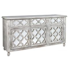 Hampton Style Mirrored Sideboard - Allissias Attic