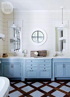 Round window inspiration - bathroom shiplap and round window