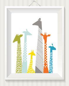 Giraffe Nursery 8x10 Digital Print by simpdesigned on Etsy