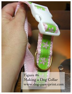 DIY Dog Collar. I can never find what I want in the store. Now Madi might have multiple collars to switch between.