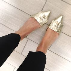 These beauties make work days a little more fun! ✨ I linked these metallic tasseled loafers AND my favorite new work pants (they're only $55!) via @liketoknow.it . You easily shop these shoes & work pants along with ALL of my Instagram looks by following this link! http://www.cobaltchronicles.com/shop-2/instagram/