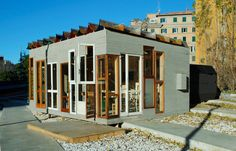 a villa constructed entirely out of recycled materials