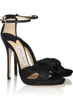 Jimmy Choo|Jada shimmer-leather sandals|NET-A-PORTER.COM