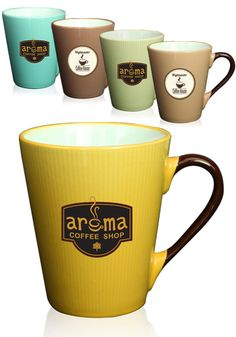 Put your brand on something that's perfect for in-house branded ceramic wear for coffee shops, corporate promotional efforts and so much more. These 11 oz. Le Creme ceramic latte mugs are featured in several unique and refined color options that make this stylish promotional option stand out in the crowd. Your mugs' color will stand out against an all-white interior for a look that will complement your brand at any event or occasion.