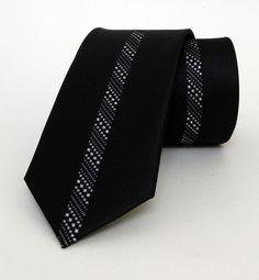 Black Mens Tie 6 cm (2,36 #handmadeatamazon #nazodesign