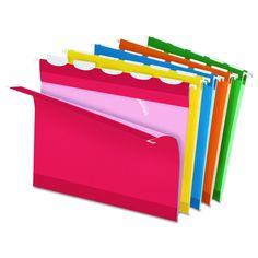 Pendaflex Colored Reinforced 1/5 Tab Assorted Hanging Folders