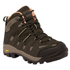 Regatta Great Outdoors WomensLadies Lady Burrell Waterproof Hiking Boots 8 US BrownCoral * Learn more by visiting the image link.