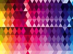 Triangles Pattern Rainbow