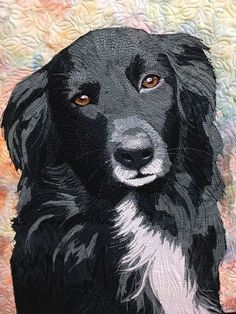 Dog Quilts, Animal Quilts, Le Chihuahua, Fiber Art Quilts, Photo Quilts, Black Labrador Retriever, Landscape Quilts, Thread Painting, Dog Portraits