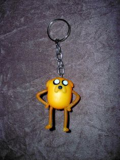 Chaveiro Jake the Dog em biscuit. R$ 7,00