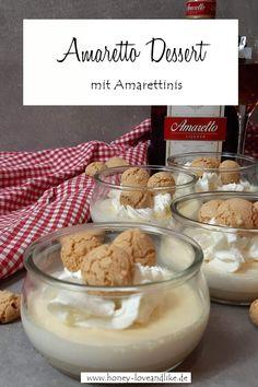 Amaretto Dessert mit Amarettinis Christmas Desserts, Sweet Tooth, Sweet Treats, Vegan Recipes, Dessert Recipes, Snacks, Breakfast, Party, Food