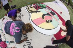 Homecoming 2013 Sidewalk Chalk competition.
