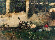 Comida en La Alhambra - Mariano Fortuny, 1872