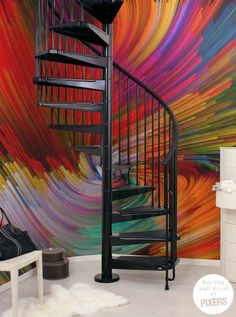 colorful swirl wall mural • Inspirations • PIXERSIZE.com