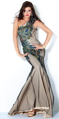 Jovani Dress - Peacock -- Tried this on and LOVED it for my senior prom.  Maybe I should just buy it for rainy days...
