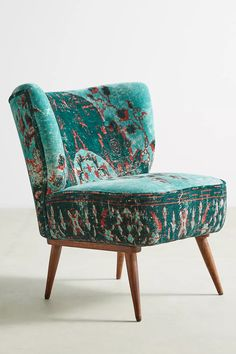 Dhurrie Petite Accent Chair | Anthropologie Living Room Furniture, Home Furniture, Furniture Design, Accent Furniture, Velvet Furniture, Furniture Chairs, Plywood Furniture, Chair Design, Furniture Ideas