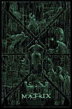 Cool Art: 'The Matrix' by Kilian Eng - illustrations Posters Geek, Cinema Posters, Film Posters, Keanu Matrix, Kilian Eng, Cyberpunk, The Matrix Movie, Poster Minimalista, Sci Fi Movies