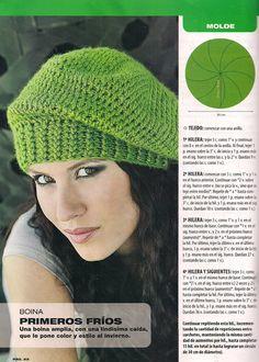 Esquemas de boina tejidas a crochet - Imagui