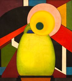 """""""Le Tournesol"""" (""""The Sunflower""""), Edward Steichen, ca. 1920, tempera and oil on canvas, 36 1/4 x 32 1/4"""",  National Gallery of Art, Washington."""