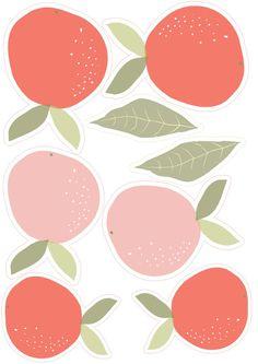 free printable oranges garland
