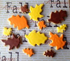 Janis Bakes:  Fall Leaves, cookies