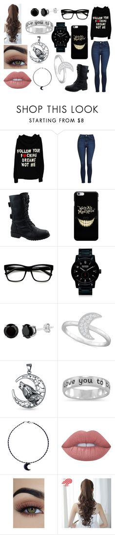 """""""-"""" by mangle322 on Polyvore featuring Topshop, Forever Link, Nixon, Swarovski, Bling Jewelry, BillyTheTree, Lime Crime and Pin Show"""