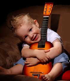 Loving music! ♥ Start them young, it will stay with them forever!