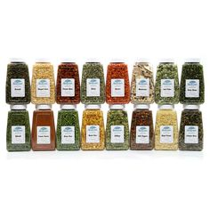 We never hide our bulk dried vegetables in cans or colored bags. You deserve the opportunity to see what you're actually buying! The Vegetable Pantry Stuffer contains our quart size jarS (16 total) of each of the following premium Non-GMO veggies: Broccoli Flowerets, Green Cabbage, Diced Carrots, Sliced Celery, Whole Sweet Corn, Green Beans, Fancy Sliced Mushrooms, Jalapeno Dices, Tangy Green & White Leeks, Chopped White Onions, Green Sweet Peas...