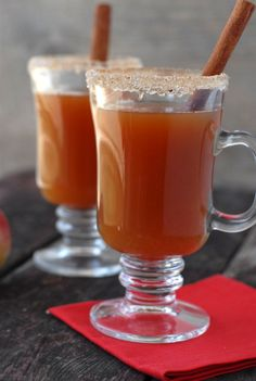 Hot Mulled Apple Cider with Rum! Another idea for a good winter wedding cocktail.