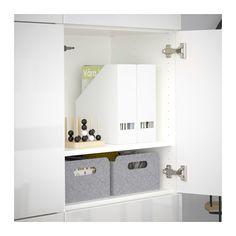 BESTÅ Storage combination with doors - white/Selsviken high-gloss/white - IKEA