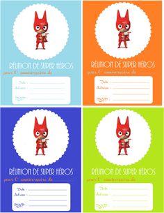 C'est une carte d'anniversaire DIY et free printable que je vous propose… Superhero Invitations, Printable Invitations, Superhero Party, Diy For Kids, Free Printables, Birthdays, Christmas Ornaments, Children, Superman