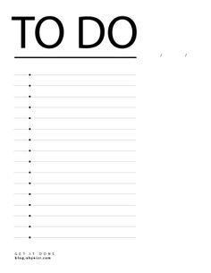 blank printable to do lists