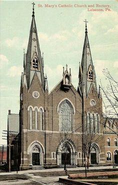 St Mary's Catholic Church, Lebanon, PA.  Demolished.