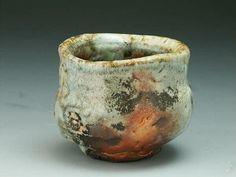 Sake cup with Kuma-Shino glaze