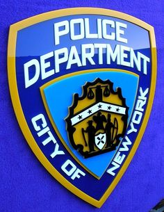 3d Nypd Sign Art  New York Police Car Ny City Movie Badge Tv New 3-d Series News from $95.0
