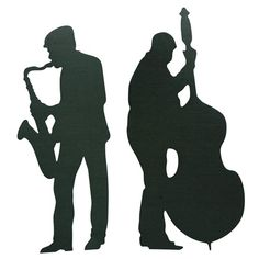 Swing Time and String Time Sax and Bass Player Kit-Roaring 20's Great Gatsby Prom Decorations
