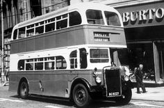 Old photograph of Double Decker passenger bus in Paisley by Glasgow , Scotland . All photographs are copyright of Sandy Stevenson, Tou. Paisley Scotland, Routemaster, Bus Coach, Old Photographs, Places Of Interest, England Uk, Glasgow, Nostalgia, Old Things