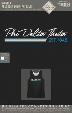 Phi Delta Theta Jersey PR | Fraternity Event | Greek Event #phideltatheta #phidelt Phi Delta Theta, All Design